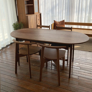 WALNUT OVALTABLE S