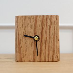 TABLE CLOCK RED-OAK