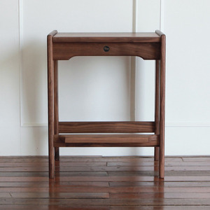 WALNUT HIGH STOOL