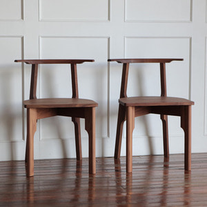 WALNUT CHAIR X - 2ea